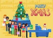 Wesoło boże narodzenia I nowy rok W sklepie Obrazy Stock