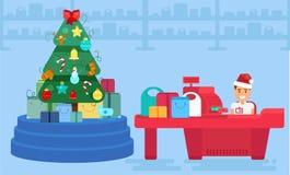 Wesoło boże narodzenia I nowy rok W sklepie Obrazy Royalty Free