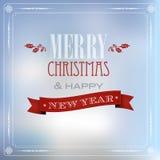 Wesoło boże narodzenia i szczęśliwa nowy rok karta Zdjęcie Stock