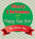 Wesoło boże narodzenia i szczęśliwa nowy rok karta ilustracja wektor