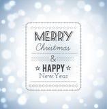 Wesoło boże narodzenia i szczęśliwa nowy rok karta Obraz Stock