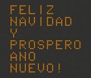 Wesoło boże narodzenia i Szczęśliwa nowy rok karta w hiszpańszczyznach Zdjęcia Royalty Free