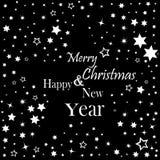 Wesoło boże narodzenia i Szczęśliwego nowego roku literowania pocztówkowy projekt również zwrócić corel ilustracji wektora Xmas n ilustracja wektor