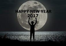 Wesoło boże narodzenia i szczęśliwy nowego roku 2017 concep Zdjęcia Stock