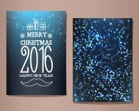 Wesoło boże narodzenia 2016 i Szczęśliwy nowego roku kartka z pozdrowieniami również zwrócić corel ilustracji wektora Fotografia Royalty Free