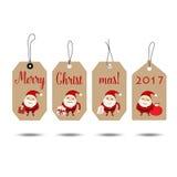 Wesoło boże narodzenia i Szczęśliwy nowego roku 2017 kartka z pozdrowieniami, wektor il royalty ilustracja