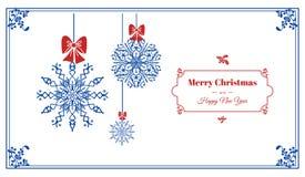 Wesoło boże narodzenia i Szczęśliwy nowego roku pojęcia sztandar, prosty styl ilustracji