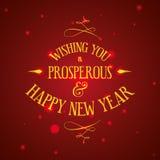Wesoło boże narodzenia i Szczęśliwy nowego roku projekt Obraz Stock