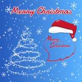 Wesoło boże narodzenia i szczęśliwy nowego roku tła wektoru wizerunek ilustracji