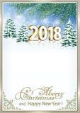 Wesoło boże narodzenia 2018 i Szczęśliwy nowy rok Fotografia Royalty Free