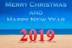 Wesoło boże narodzenia 2019 I Szczęśliwy nowy rok zdjęcie stock