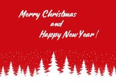 Wesoło boże narodzenia i Szczęśliwy nowy rok royalty ilustracja