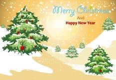 Wesoło boże narodzenia i Szczęśliwy nowy rok Zdjęcia Stock