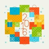 Wesoło boże narodzenia 2016 i Szczęśliwy nowy rok Obrazy Royalty Free