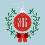 Wesoło boże narodzenia 2016 i Szczęśliwy nowy rok Zdjęcia Stock