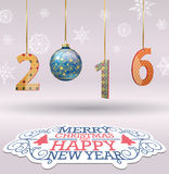 Wesoło boże narodzenia i Szczęśliwy nowy rok Fotografia Royalty Free