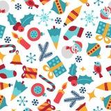 Wesoło boże narodzenia i Szczęśliwy nowy rok bezszwowi ilustracji