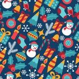 Wesoło boże narodzenia i Szczęśliwy nowy rok bezszwowi royalty ilustracja
