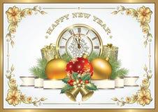Wesoło boże narodzenia i Szczęśliwy nowy rok dekoracje świąteczne ekologicznego drewna Obrazy Stock