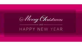 Wesoło boże narodzenia i Szczęśliwy nowy rok wręczają patroszonego literowanie royalty ilustracja