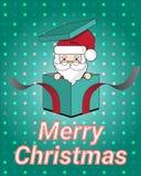 Wesoło boże narodzenia i Szczęśliwy nowy rok z Santa prezenta tła ilustracją Zdjęcie Stock
