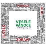 Wesoło boże narodzenia ilustracyjni w czeskim Obraz Stock
