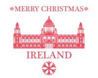 Wesoło boże narodzenia Irlandia royalty ilustracja