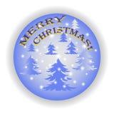 Wesoło boże narodzenia 2018 na błękitnym tle Fotografia Stock
