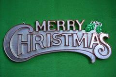 Wesoło boże narodzenia na zielonym tle Zdjęcie Stock