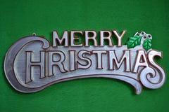 Wesoło boże narodzenia na zielonym tle Zdjęcia Stock