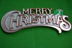 Wesoło boże narodzenia na zielonym tle Obraz Stock