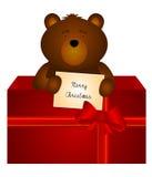 Wesoło boże narodzenia (niedźwiedź) Zdjęcie Royalty Free