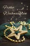 Wesoło boże narodzenia niemieccy Zdjęcie Stock