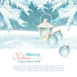 Wesoło boże narodzenia & nowego roku świętowania tło Obraz Stock