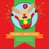 Wesoło boże narodzenia Reniferowi Ilustracji