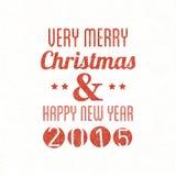 Wesoło boże narodzenia & Szczęśliwy nowy rok obraz royalty free