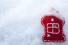Wesoło boże narodzenia! Szczęśliwy nowy rok! Zima śnieg Fotografia Stock