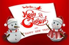 Wesoło boże narodzenia! Szczęśliwych bożych narodzeń kamraci Zdjęcia Stock