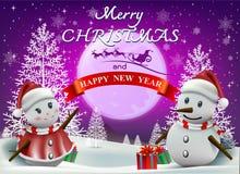 Wesoło boże narodzenia! Szczęśliwych bożych narodzeń kamraci Obraz Stock
