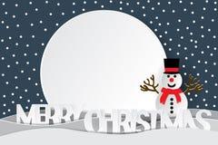 Wesoło boże narodzenia tekst i Szczęśliwy nowy rok Fotografia Stock