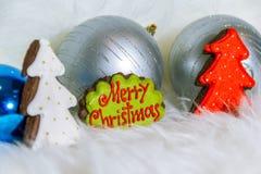 Wesoło boże narodzenia w ciastkach Obrazy Royalty Free