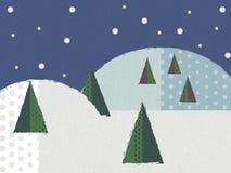 Wesoło boże narodzenia w płatku śniegu Zdjęcia Royalty Free