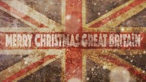 Wesoło boże narodzenia Wielki Brytania flagi Obraz Royalty Free