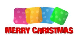 Wesoło boże narodzenia wita tekst projektują ikonę na białym tle ilustracji