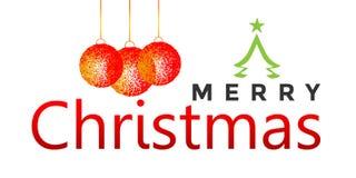 Wesoło boże narodzenia wita tekst projektują ikonę na białym tle ilustracja wektor