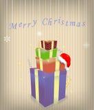 wesoło Boże Narodzenie ilustracja Zdjęcia Royalty Free