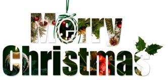 wesoło Boże Narodzenie kolaż ilustracja wektor