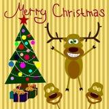 wesoło Boże Narodzenie pocztówka royalty ilustracja