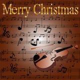 wesoło Boże Narodzenie pocztówka ilustracji