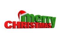 wesoło Boże Narodzenie tekst Obraz Stock